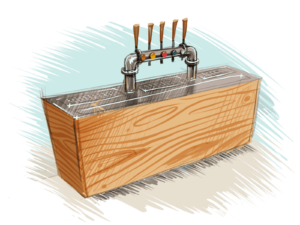Wooden Cocktailbar